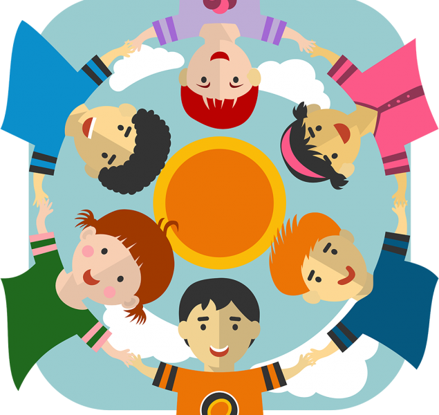 kinderen in een cirkel